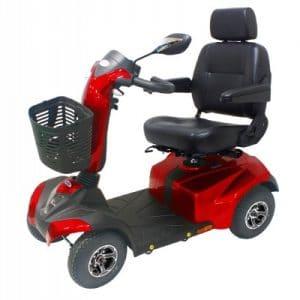 Scootmobiel Drive ST4D 4 wielen beschikbaar in 2 kleuren. Dit is rood