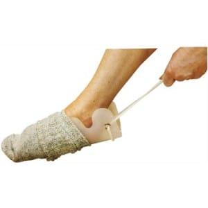 Engelse sokaantrekker, aan / uittrekhulpmiddel voor sokken