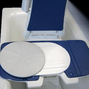 Badlift Bellavita Vitaturn L merk Drive kleur grijs en wit voorbeeld in bad