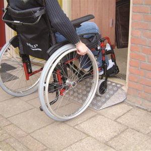 Ricmar drempelhulp voor rollator, rolstoel of scootmobiel in 2 maten