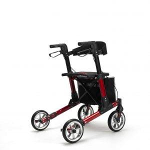 Rollator Quava van het merk Vermeiren in kleur Rood opvouwbaar