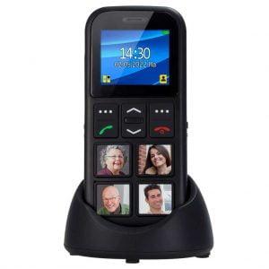 Telefoon, mobiel voor senioren Fysic