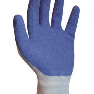De anti-slip Slide Solution steunkoushandschoen is gebreid van 100% nylon. Aan de binnenkant van de vingers en handpalm zit een latex laag