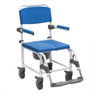 """Douche-toilet-rolstoel Aston in hoogte verstelbaar met 5"""" wielen van het merk Drive"""