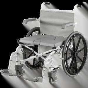 """Douche-toilet-rolstoel DuoMotion XL, zelfbeweger met 2x 24"""" en 4x 5"""" wielen, merk Drive"""