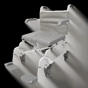 """Douche-toilet-rolstoel DuoMotion XL, in hoogte verstelbaar met 4x 5"""" wielen van het merk Drive"""
