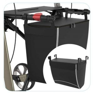 Rehasense rollator luxe boodschappentas in 2 uitvoeringen met ritssluiting of magneetklep