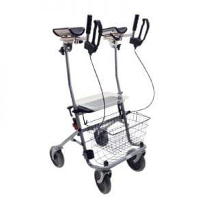 Rollator cristallo2 merk Drive met zachte armschalen compleet met mand en dienblad
