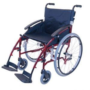 Transportrolstoel van het merk Drive in de kleur Rood D-Lite