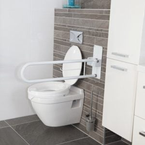 Wandbeugel met toiletrolhouder, opklapbaar voor toilet of badkamer