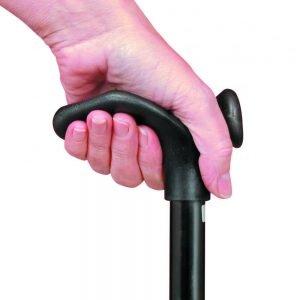 wandelstok met comfortgrip in de kleur zwart