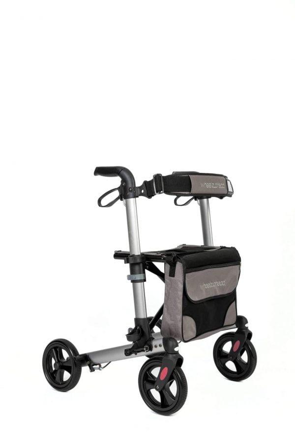 Track 4.0 merk wheelz-ahead lichtgewicht rollator dubbel inklapbaar kleur antraciet zij voor
