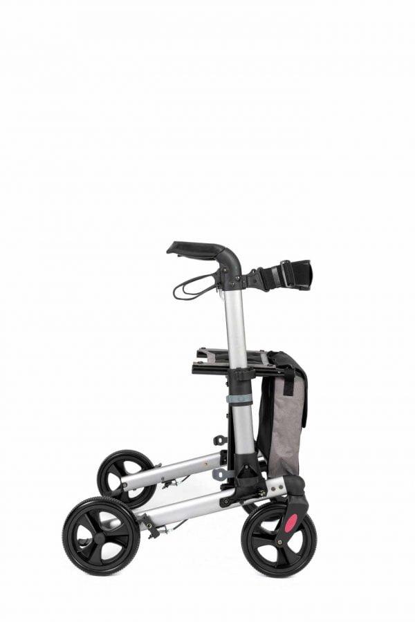 Track 4.0 merk wheelz-ahead lichtgewicht rollator dubbel inklapbaar kleur antraciet zijkant