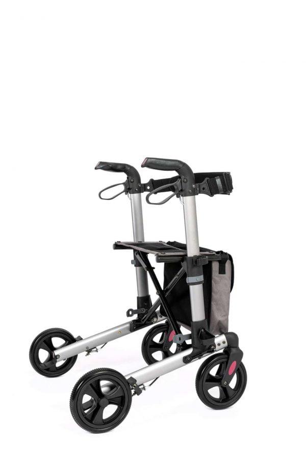 Track 4.0 merk wheelz-ahead lichtgewicht rollator dubbel inklapbaar kleur antraciet zij voorzijde