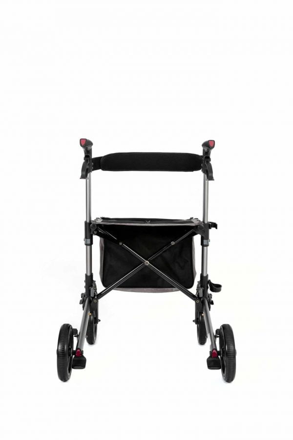 Track 4.0 merk wheelz-ahead lichtgewicht rollator dubbel inklapbaar kleur antraciet achterzijde