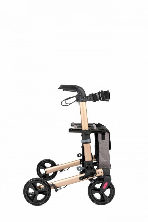 Track 4.0 merk wheelz-ahead lichtgewicht rollator dubbel inklapbaar kleur champagne