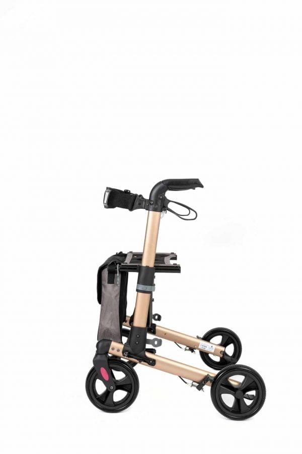 Track 4.0 merk wheelz-ahead lichtgewicht rollator dubbel inklapbaar kleur zijkant