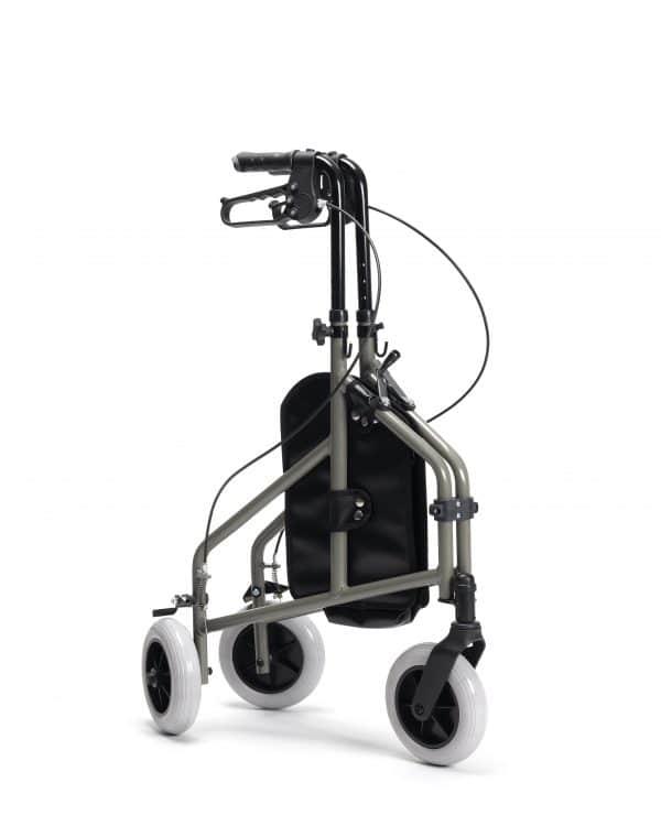 Driewiel rollator Delta van het merk Vermeiren ingeklapt